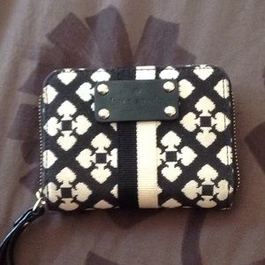 Kate Spade Black and White Card Case